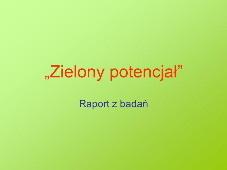 """Cel badania: Badanie """"zielonego potencjału w Polsce zostało zrealizowane na zamówienie Fundacji im."""