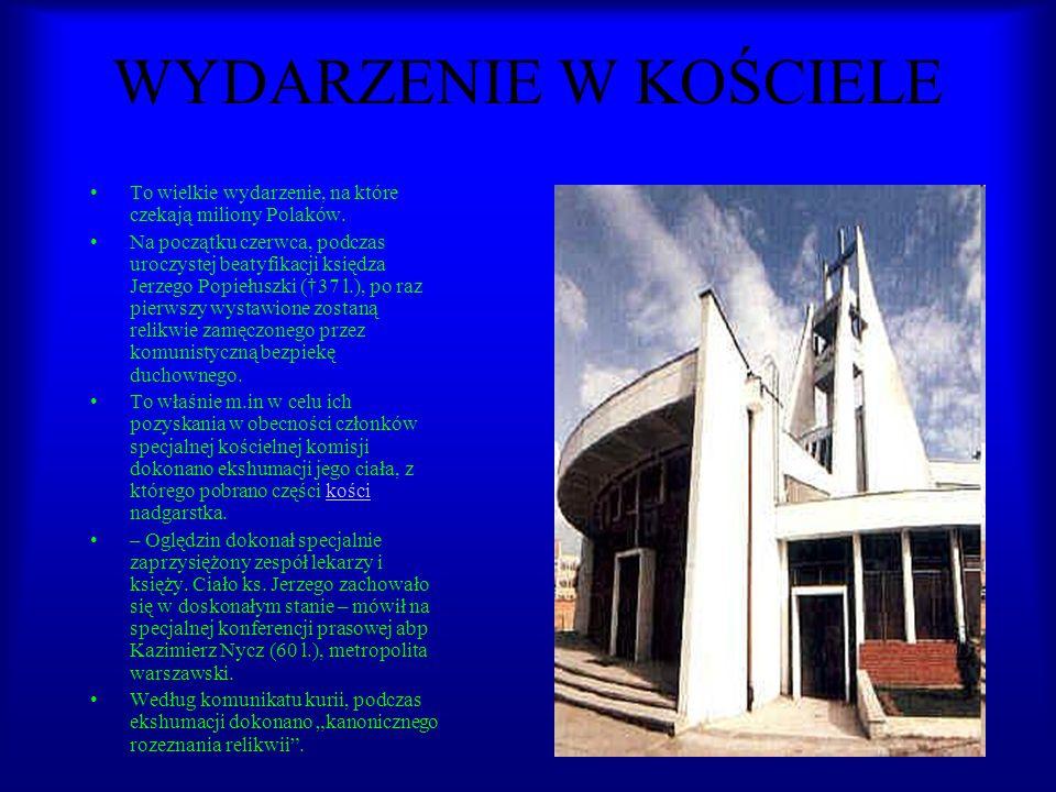 WYDARZENIE W KOŚCIELE To wielkie wydarzenie, na które czekają miliony Polaków.