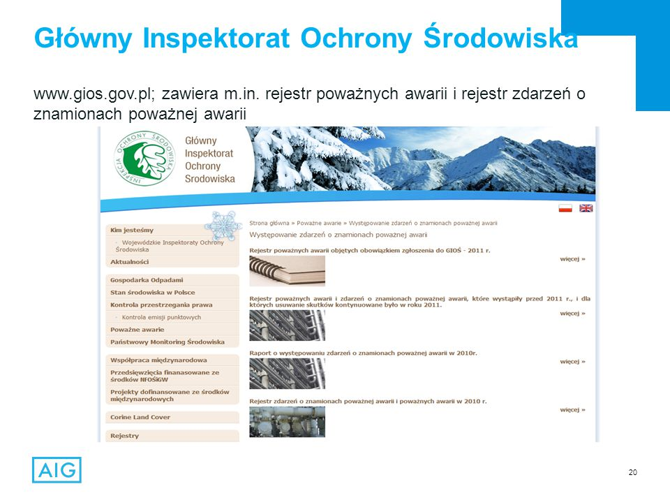 20 www.gios.gov.pl; zawiera m.in.