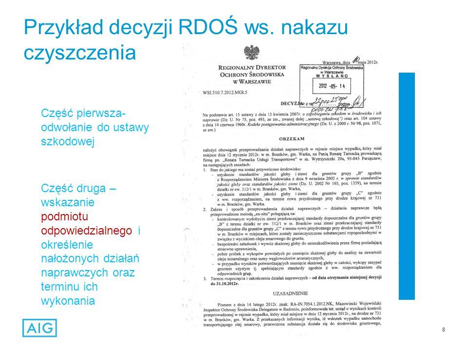 8 Przykład decyzji RDOŚ ws.
