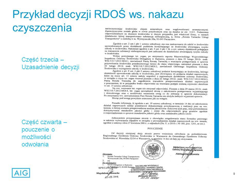 9 Przykład decyzji RDOŚ ws.
