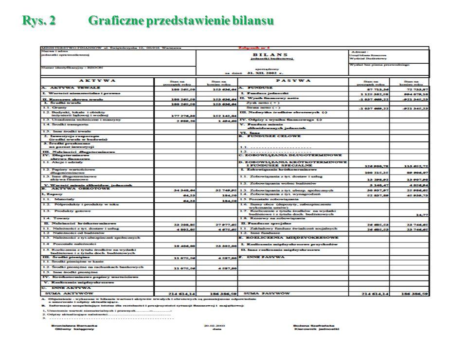 Rys. 2 Graficzne przedstawienie bilansu