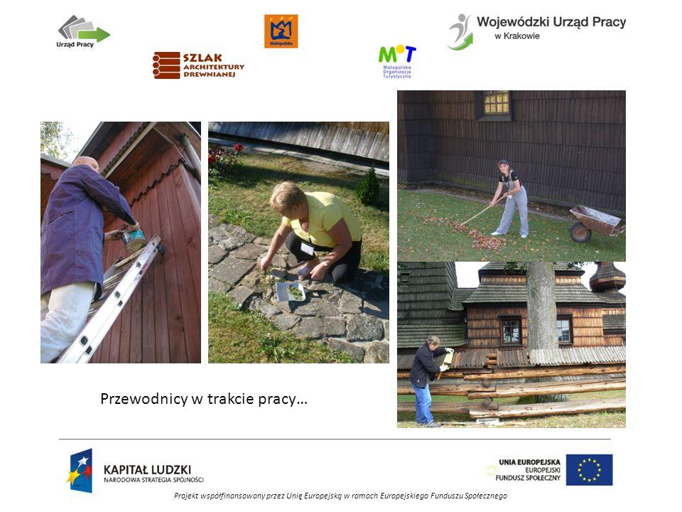 Projekt współfinansowany przez Unię Europejską w ramach Europejskiego Funduszu Społecznego Przewodnicy w trakcie pracy…