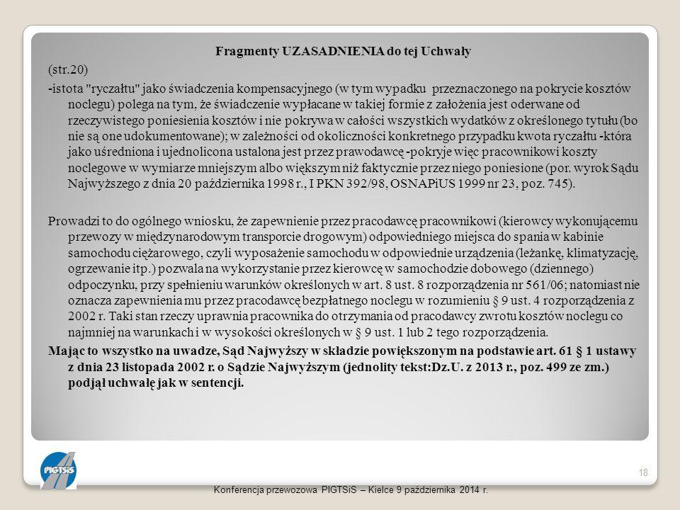 Fragmenty UZASADNIENIA do tej Uchwały (str.20) -istota