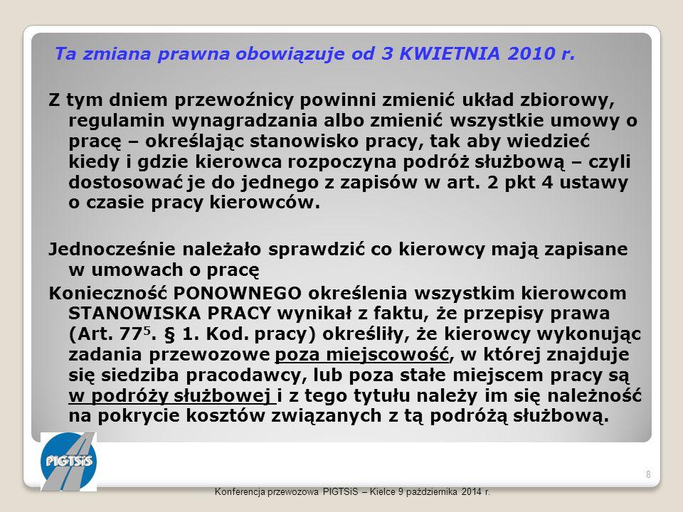 Konferencja przewozowa PIGTSiS – Kielce 9 października 2014 r. 39