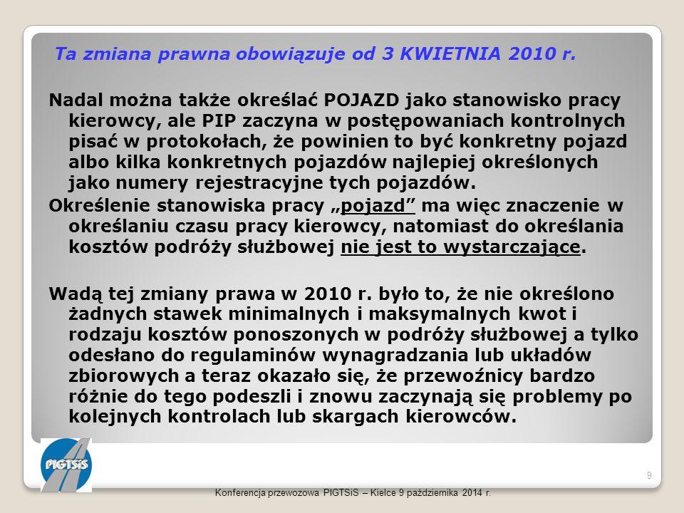 Konferencja przewozowa PIGTSiS – Kielce 9 października 2014 r. 40