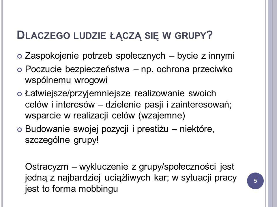 G RUPA CZY ZESPÓŁ .