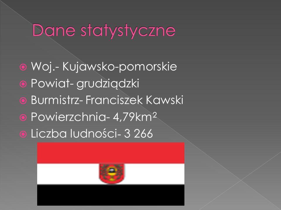  Woj.- Kujawsko-pomorskie  Powiat- grudziądzki  Burmistrz- Franciszek Kawski  Powierzchnia- 4,79km 2  Liczba ludności - 3 266