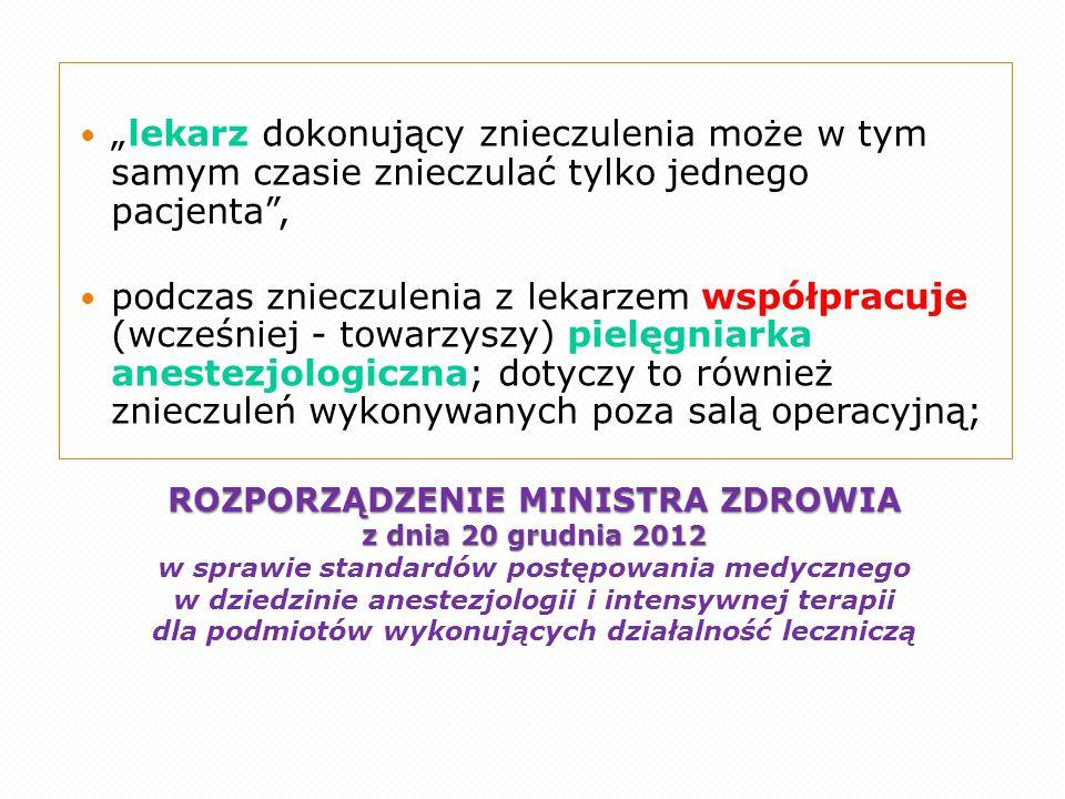 ROZPORZĄDZENIE MINISTRA ZDROWIA z dnia 20 grudnia 2012 ROZPORZĄDZENIE MINISTRA ZDROWIA z dnia 20 grudnia 2012 w sprawie standardów postępowania medycz