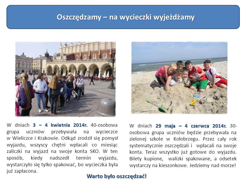 3 – 4 kwietnia 2014r. W dniach 3 – 4 kwietnia 2014r. 40-osobowa grupa uczniów przebywała na wycieczce w Wieliczce i Krakowie. Odkąd zrodził się pomysł