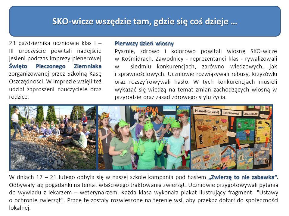 SKO-wicze wszędzie tam, gdzie się coś dzieje … Święto Pieczonego Ziemniaka 23 października uczniowie klas I – III uroczyście powitali nadejście jesien