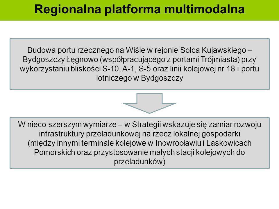 Regionalna platforma multimodalna Budowa portu rzecznego na Wiśle w rejonie Solca Kujawskiego – Bydgoszczy Łęgnowo (współpracującego z portami Trójmia