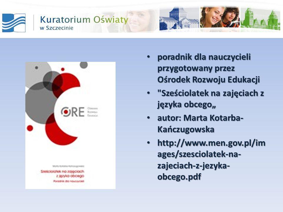 poradnik dla nauczycieli przygotowany przez Ośrodek Rozwoju Edukacjiporadnik dla nauczycieli przygotowany przez Ośrodek Rozwoju Edukacji