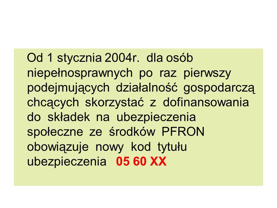 Od 1 stycznia 2004r.
