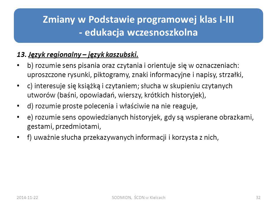 13.Język regionalny – język kaszubski.