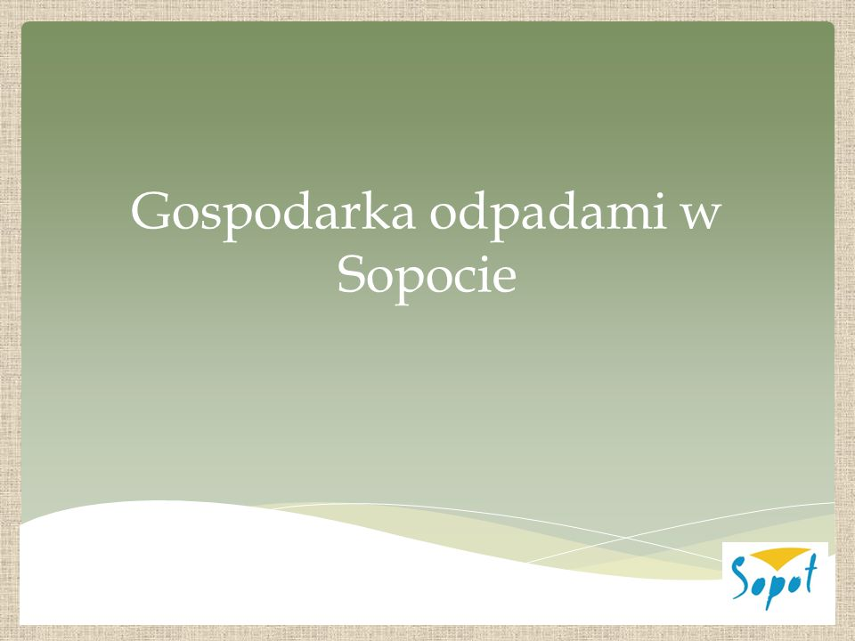 Gospodarka odpadami w Sopocie