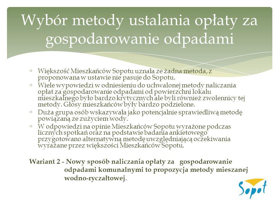  Większość Mieszkańców Sopotu uznała ze żadna metoda, z proponowana w ustawie nie pasuje do Sopotu.  Wiele wypowiedzi w odniesieniu do uchwalonej me