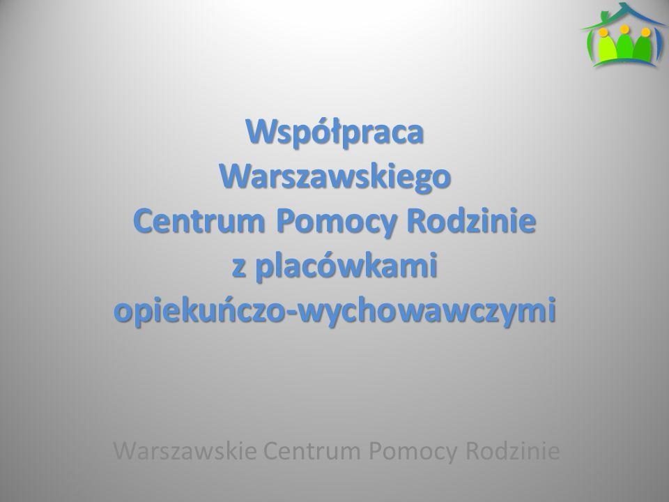 Współpraca Warszawskiego Centrum Pomocy Rodzinie z placówkami opiekuńczo-wychowawczymi Warszawskie Centrum Pomocy Rodzinie