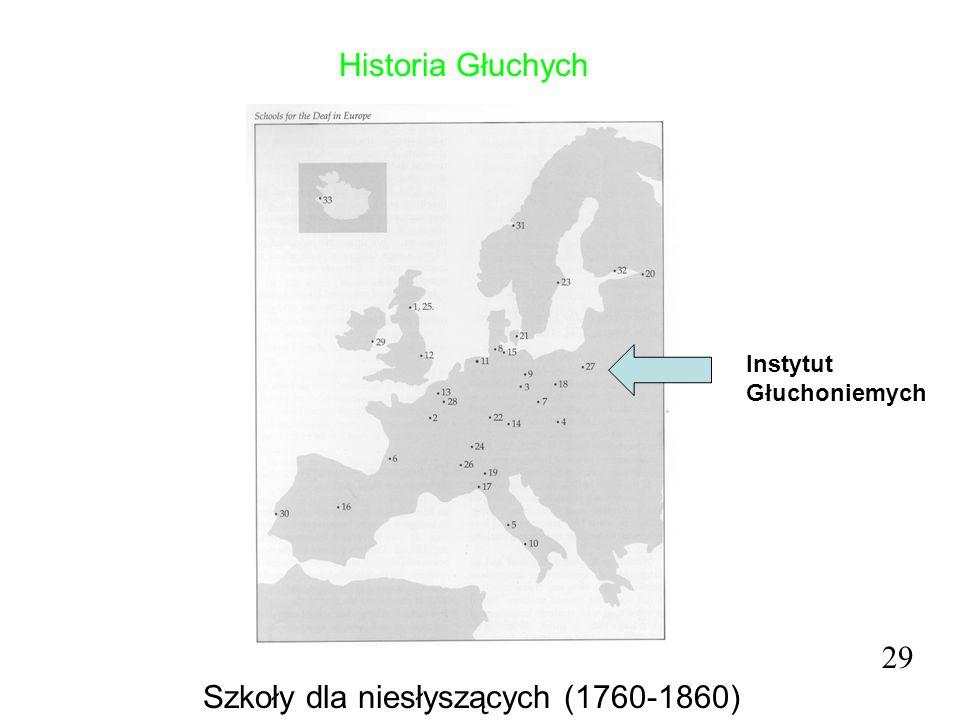 Historia Głuchych 29 Szkoły dla niesłyszących (1760-1860) Instytut Głuchoniemych