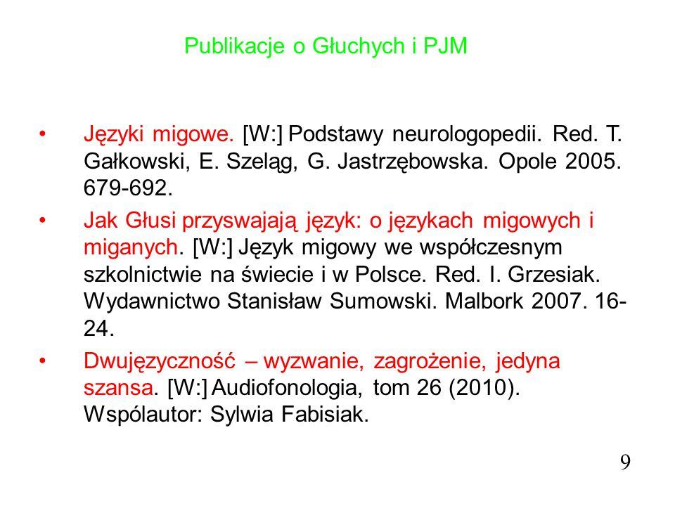 """Studia Podyplomowe """"Polski Język Migowy : filozofia. 10"""