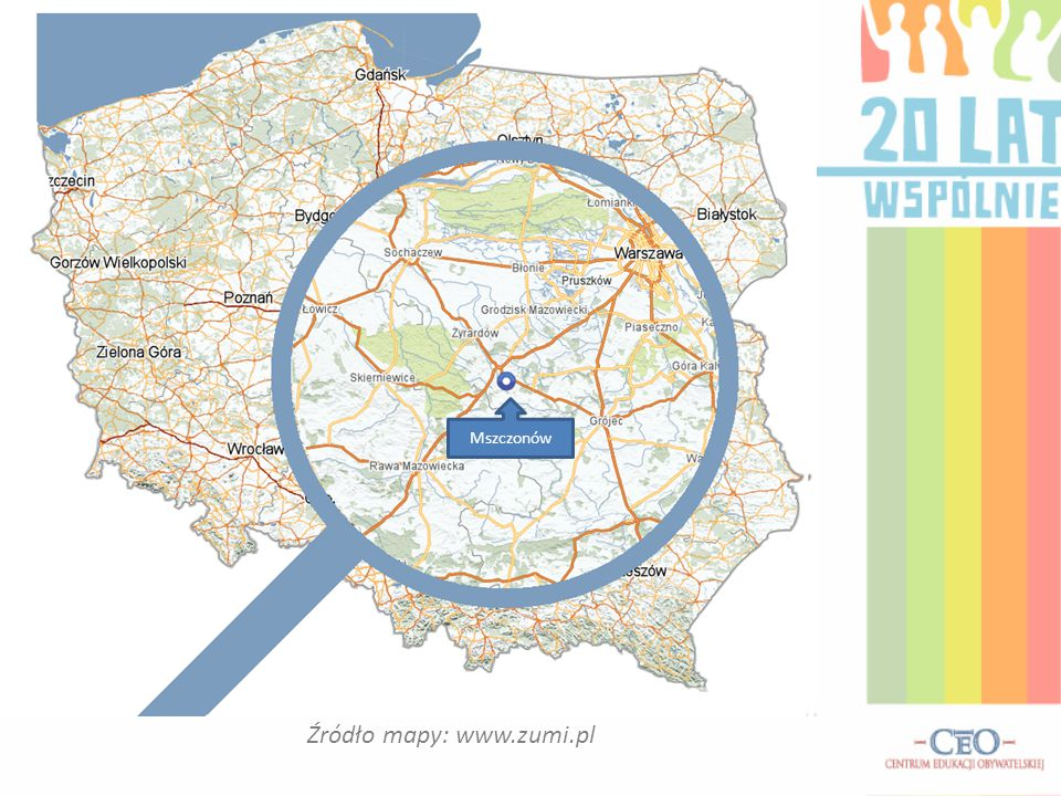 Źródło mapy: www.zumi.pl Mszczonów