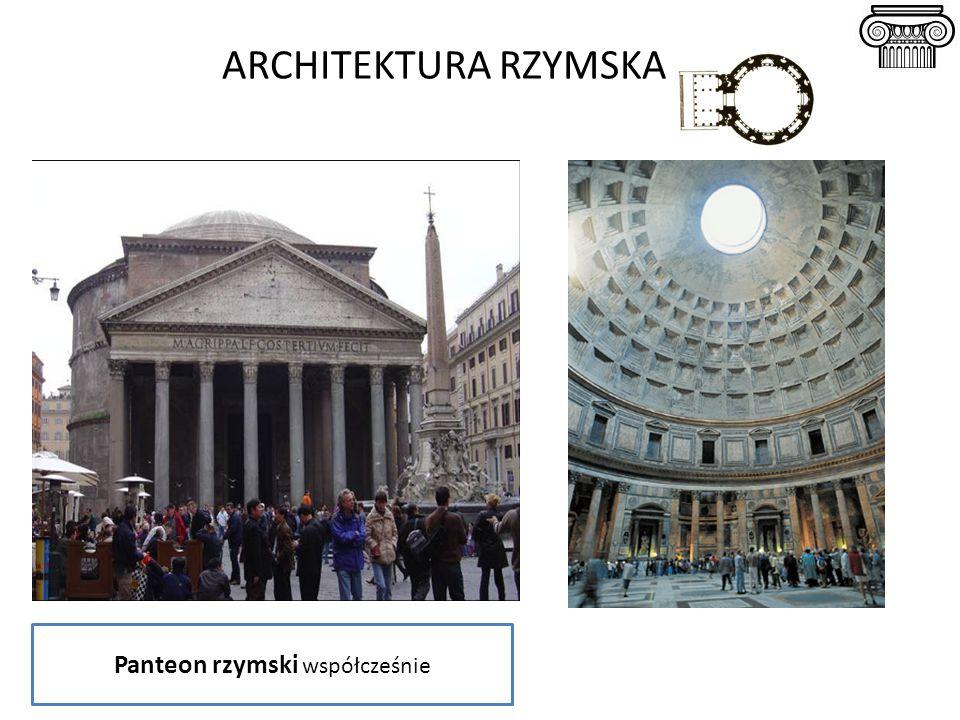 ARCHITEKTURA RZYMSKA Panteon rzymski współcześnie