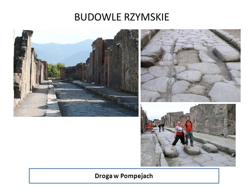 BUDOWLE RZYMSKIE Droga w Pompejach
