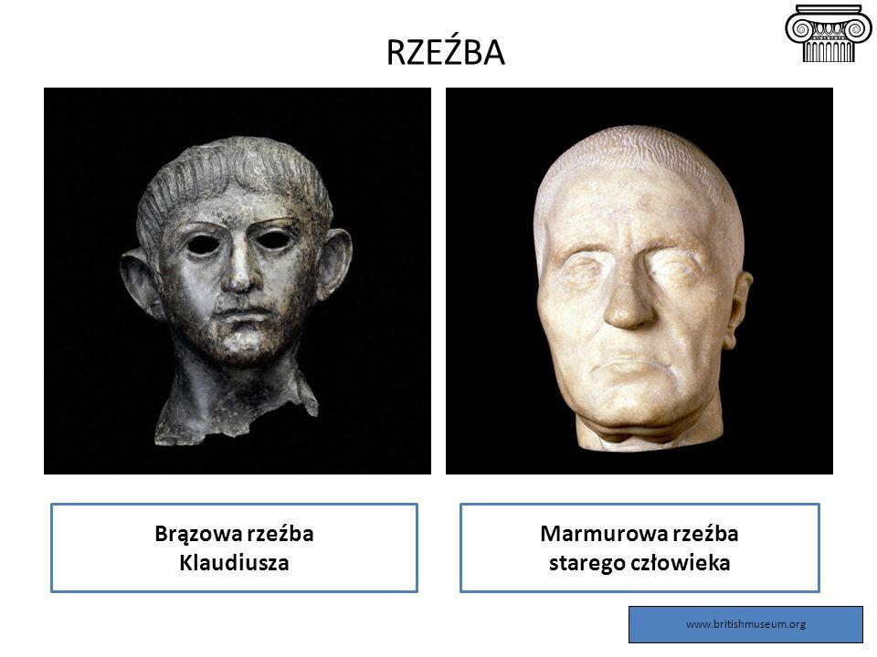 RZEŹBA Brązowa rzeźba Klaudiusza Marmurowa rzeźba starego człowieka www.britishmuseum.org