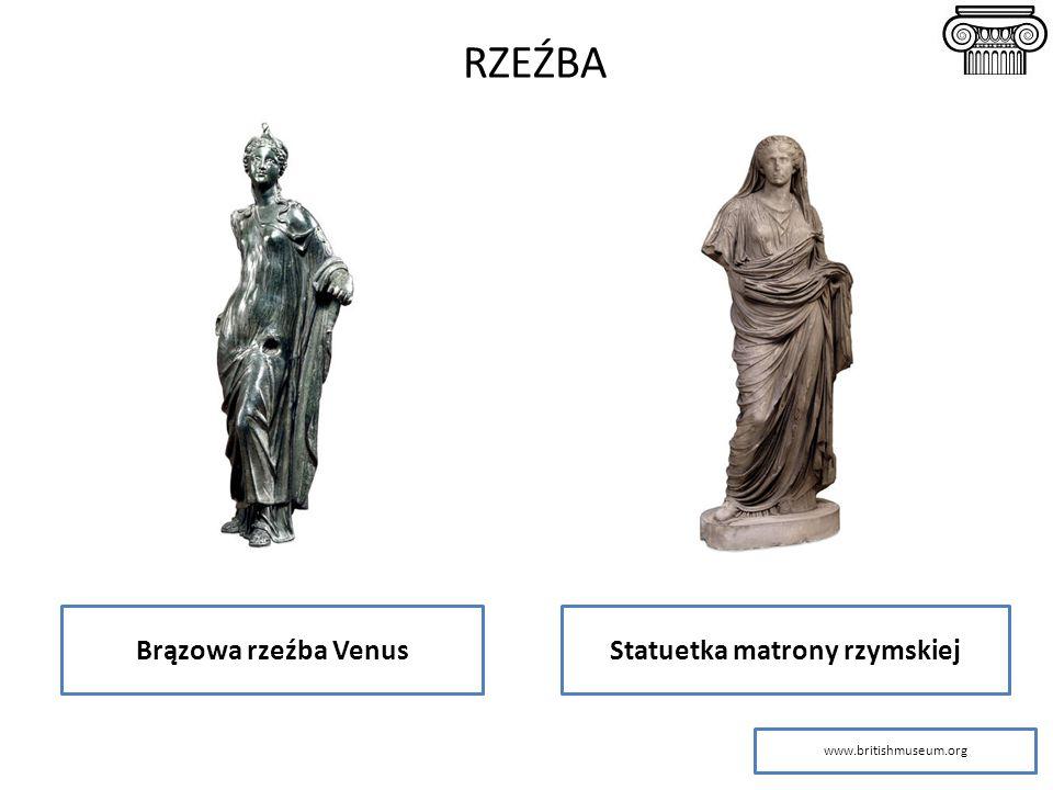 RZEŹBA Brązowa rzeźba VenusStatuetka matrony rzymskiej www.britishmuseum.org