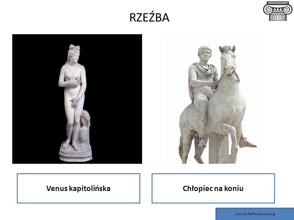 RZEŹBA Venus kapitolińskaChłopiec na koniu www.britishmuseum.org