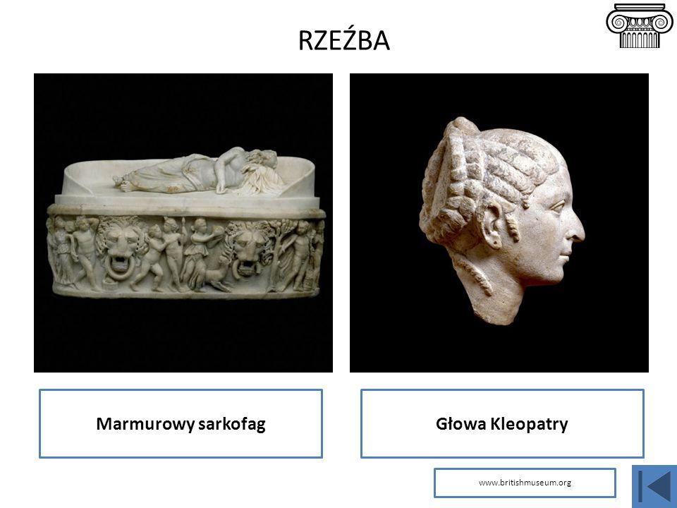 Marmurowy sarkofagGłowa Kleopatry RZEŹBA www.britishmuseum.org