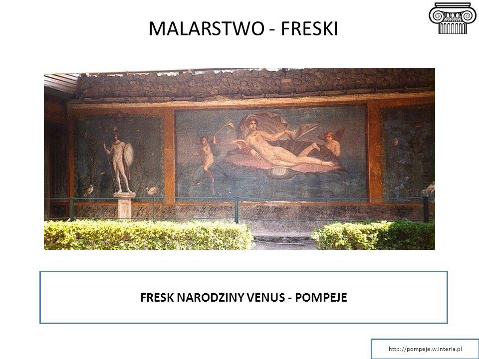MALARSTWO - FRESKI FRESK NARODZINY VENUS - POMPEJE http://pompeje.w.interia.pl