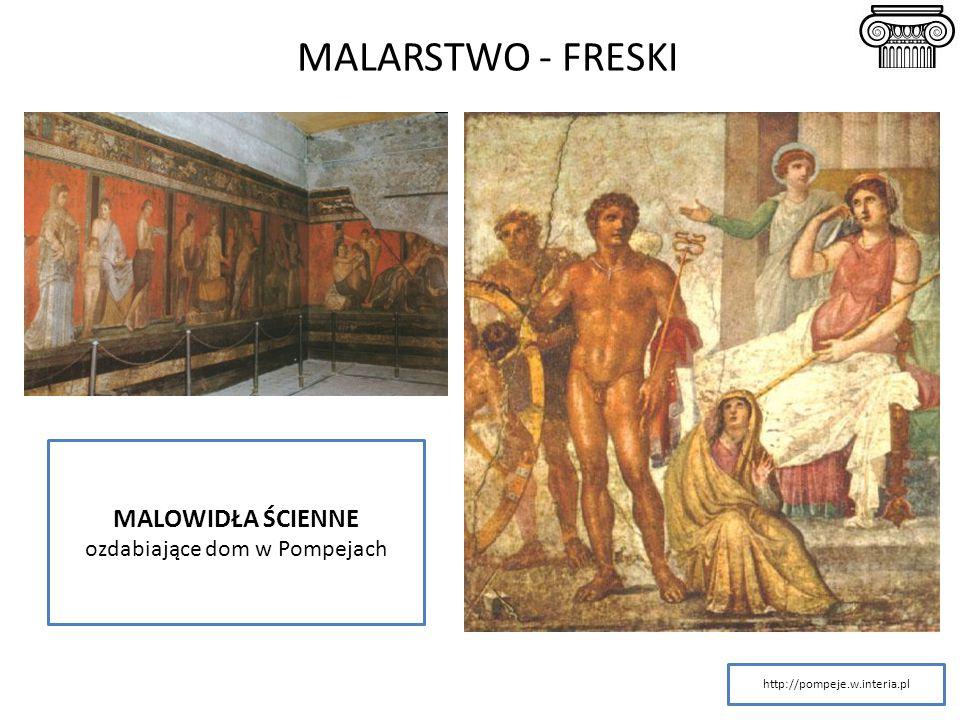 MALARSTWO - FRESKI MALOWIDŁA ŚCIENNE ozdabiające dom w Pompejach http://pompeje.w.interia.pl