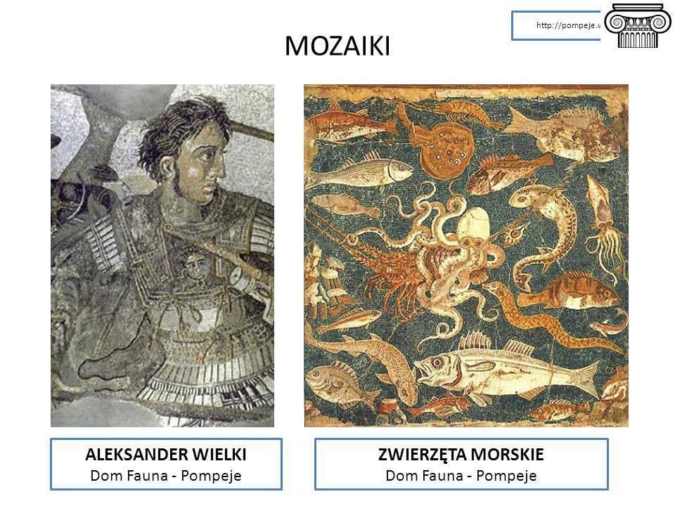 ALEKSANDER WIELKI Dom Fauna - Pompeje ZWIERZĘTA MORSKIE Dom Fauna - Pompeje http://pompeje.w.interia.pl MOZAIKI