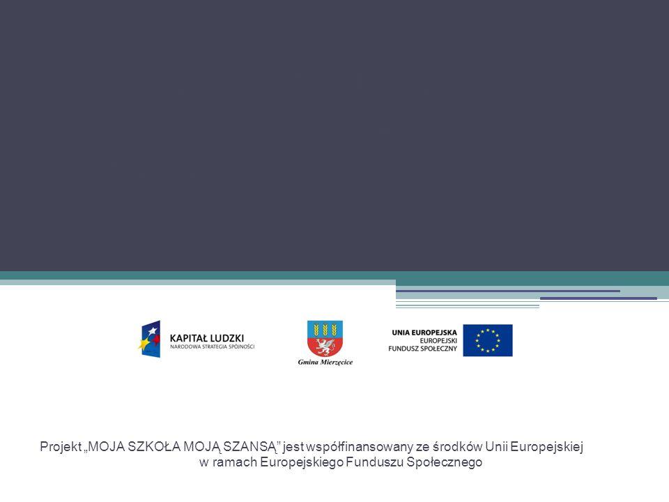 """Projekt """"MOJA SZKOŁA MOJĄ SZANSĄ Gimnazjum im. C."""