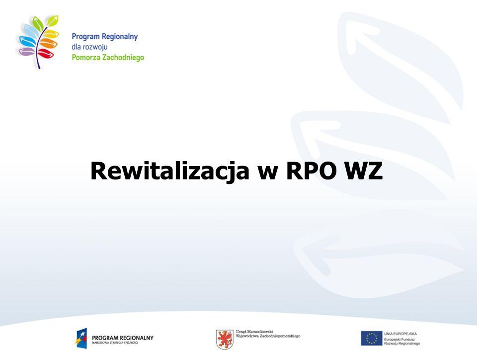 Rewitalizacja w RPO WZ