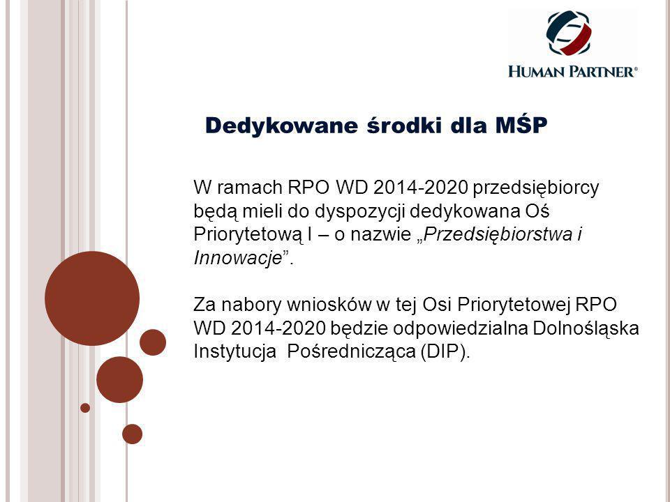 """W ramach RPO WD 2014-2020 przedsiębiorcy będą mieli do dyspozycji dedykowana Oś Priorytetową I – o nazwie """"Przedsiębiorstwa i Innowacje ."""