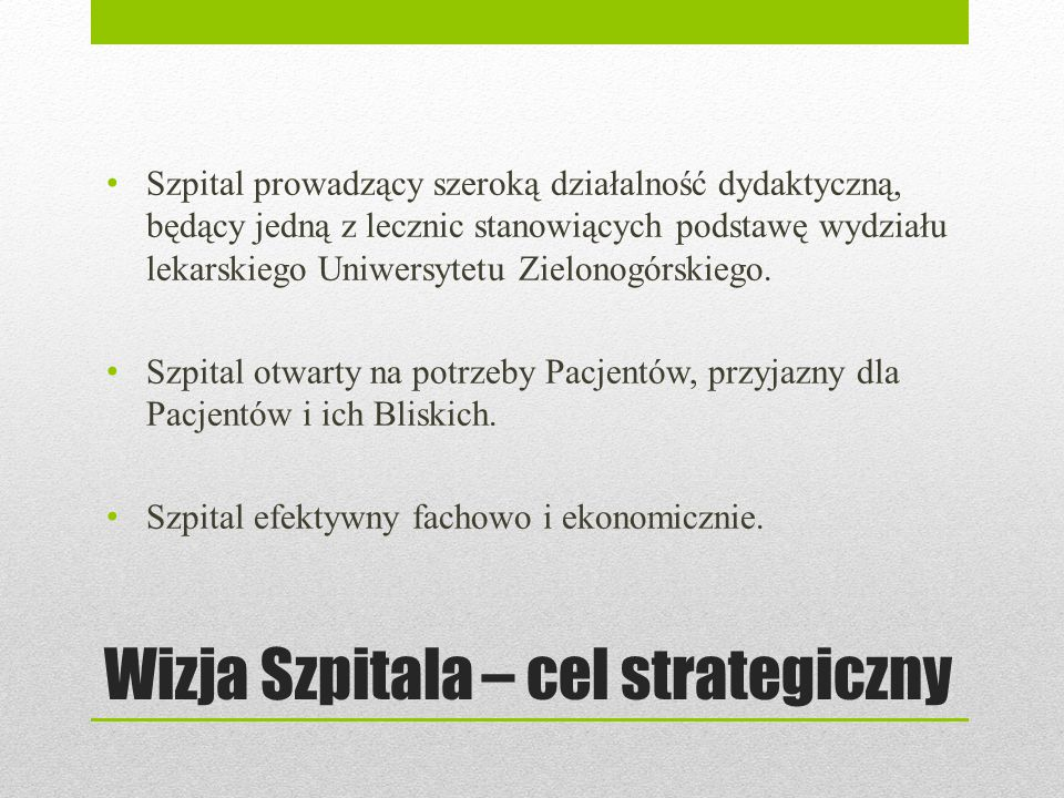 Plany inwestycyjne Budowa Ośrodka Radioterapii Ośrodek Radioterapii w Gorzowie Wlkp.