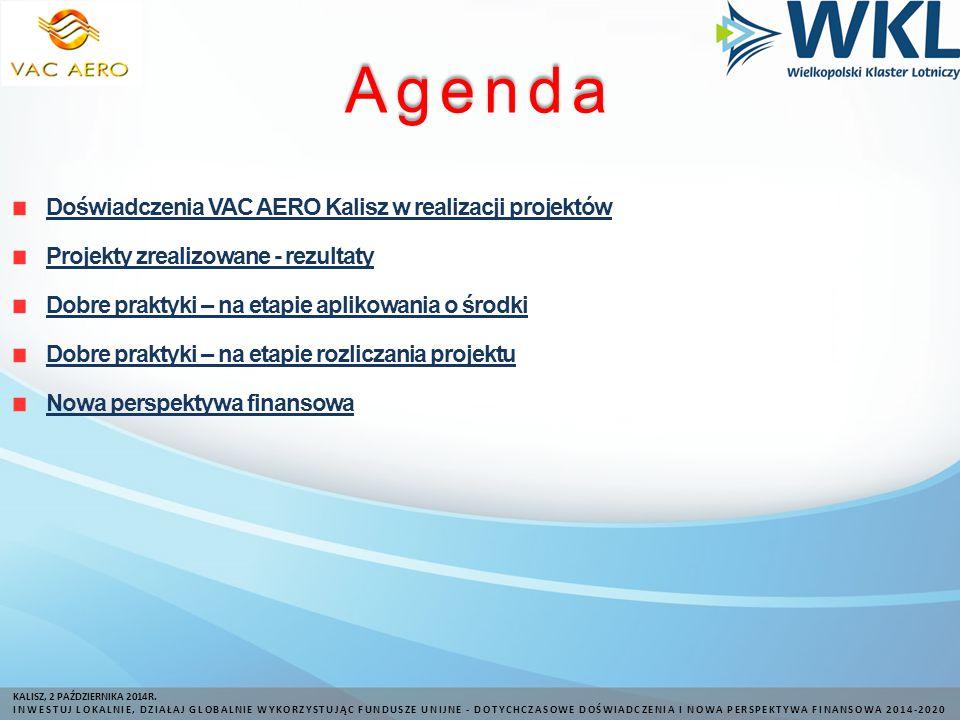 Agenda KALISZ, 2 PAŹDZIERNIKA 2014R.