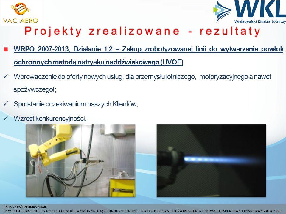 Projekty zrealizowane - rezultaty KALISZ, 2 PAŹDZIERNIKA 2014R.