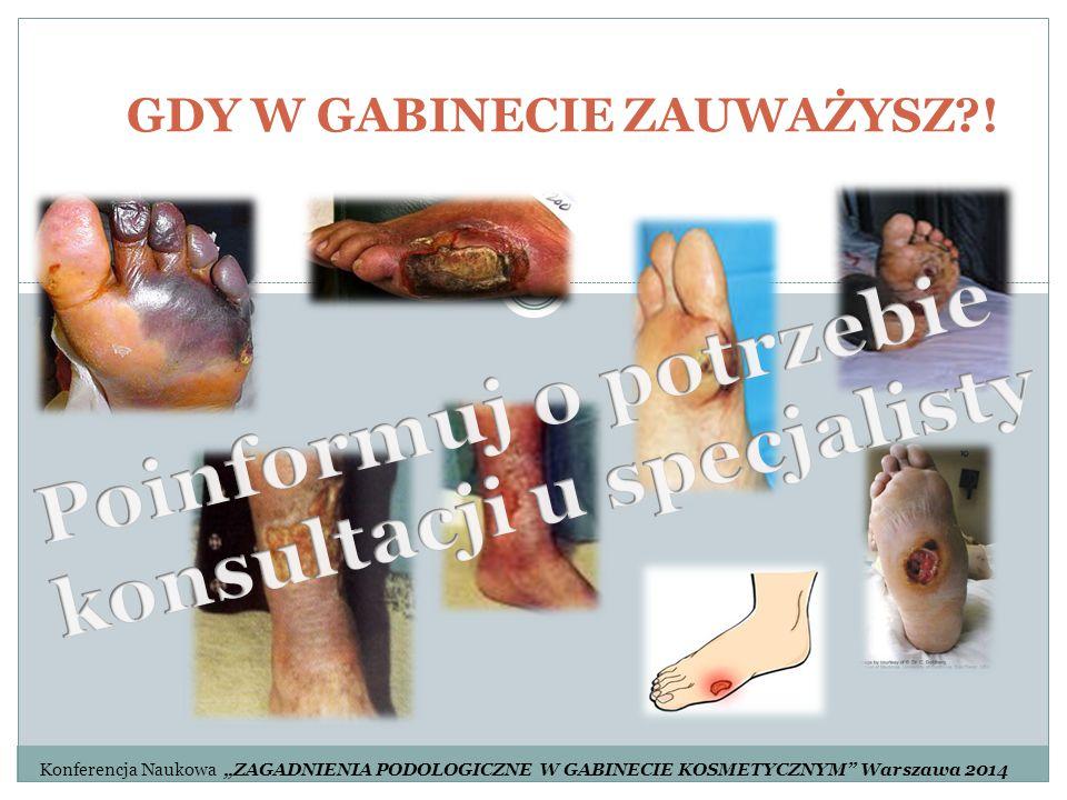 """GDY W GABINECIE ZAUWAŻYSZ?! Konferencja Naukowa """"ZAGADNIENIA PODOLOGICZNE W GABINECIE KOSMETYCZNYM"""" Warszawa 2014"""