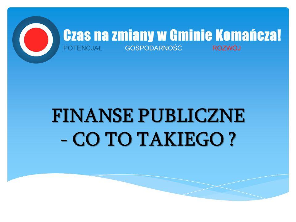 FINANSE PUBLICZNE - CO TO TAKIEGO ?