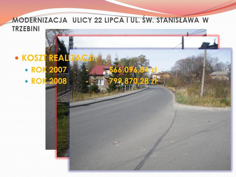 MODERNIZACJA ULICY 22 LIPCA I UL. ŚW.
