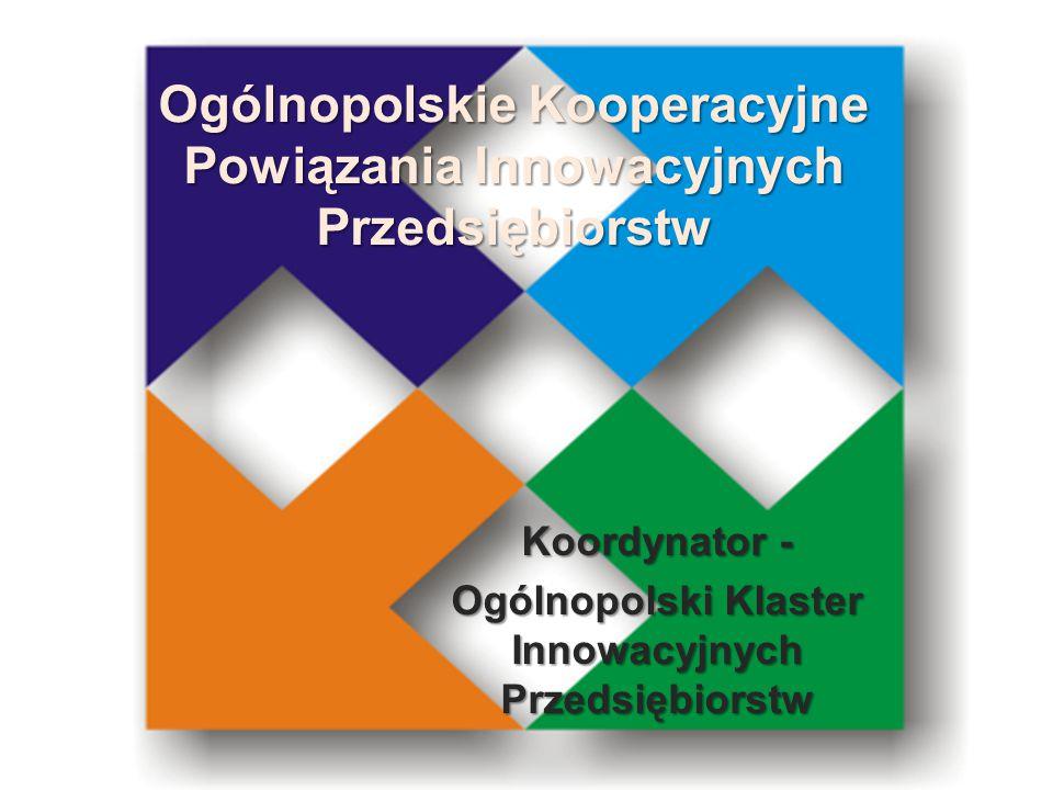 Ogólnopolskie Kooperacyjne Powiązania Innowacyjnych Przedsiębiorstw Koordynator - Ogólnopolski Klaster Innowacyjnych Przedsiębiorstw