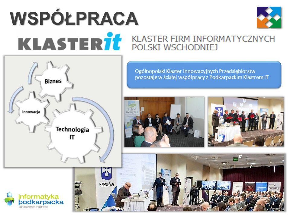 WSPÓŁPRACA Ogólnopolski Klaster Innowacyjnych Przedsiębiorstw pozostaje w ścisłej współpracy z Podkarpackim Klastrem IT