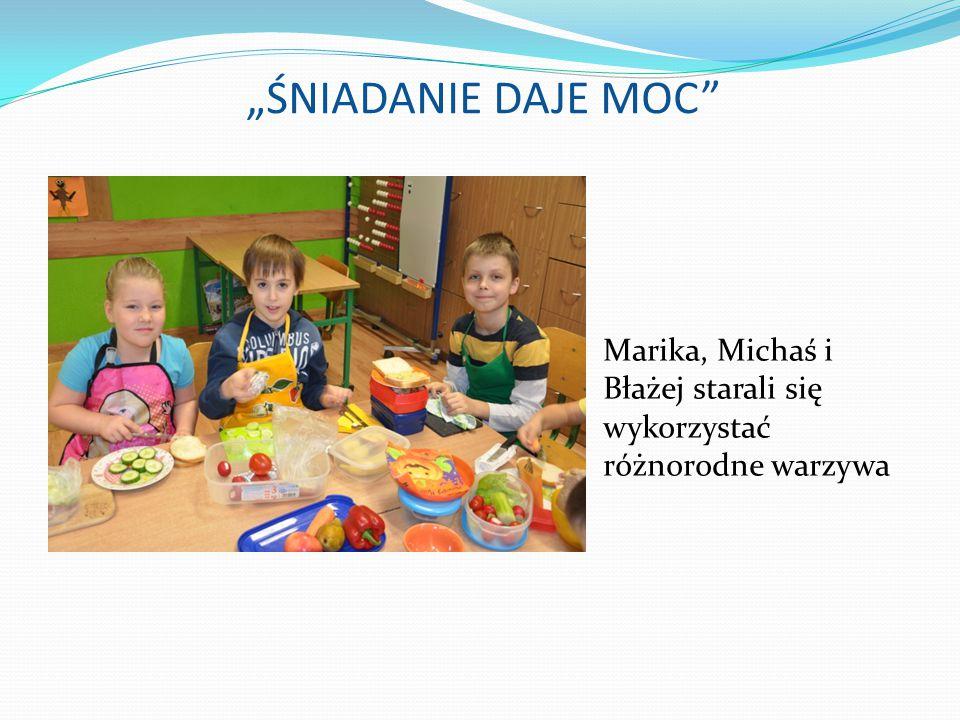 Marika, Michaś i Błażej starali się wykorzystać różnorodne warzywa