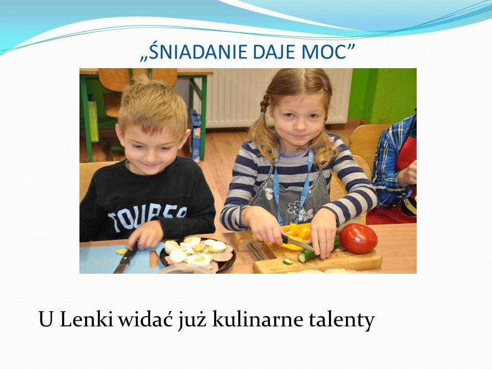 """""""ŚNIADANIE DAJE MOC"""" U Lenki widać już kulinarne talenty"""