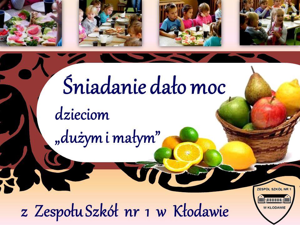 """z Zespołu Szkół nr 1 w Kłodawie Śniadanie dało moc dzieciom """"dużym i małym"""