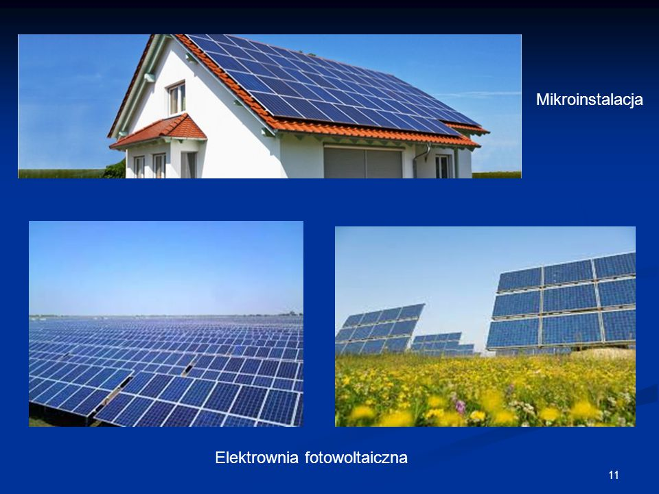 11 Mikroinstalacja Elektrownia fotowoltaiczna