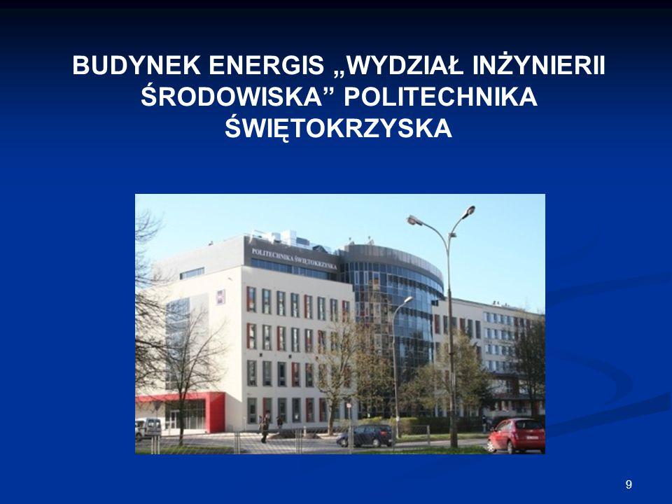 """9 BUDYNEK ENERGIS """"WYDZIAŁ INŻYNIERII ŚRODOWISKA"""" POLITECHNIKA ŚWIĘTOKRZYSKA"""
